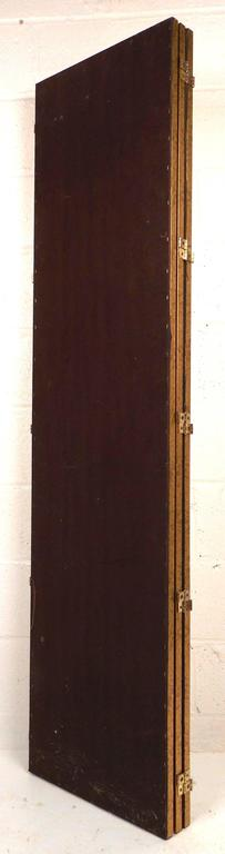 Pair of Mid-Century Modern Mirrored Three Panel Room Dividers 5