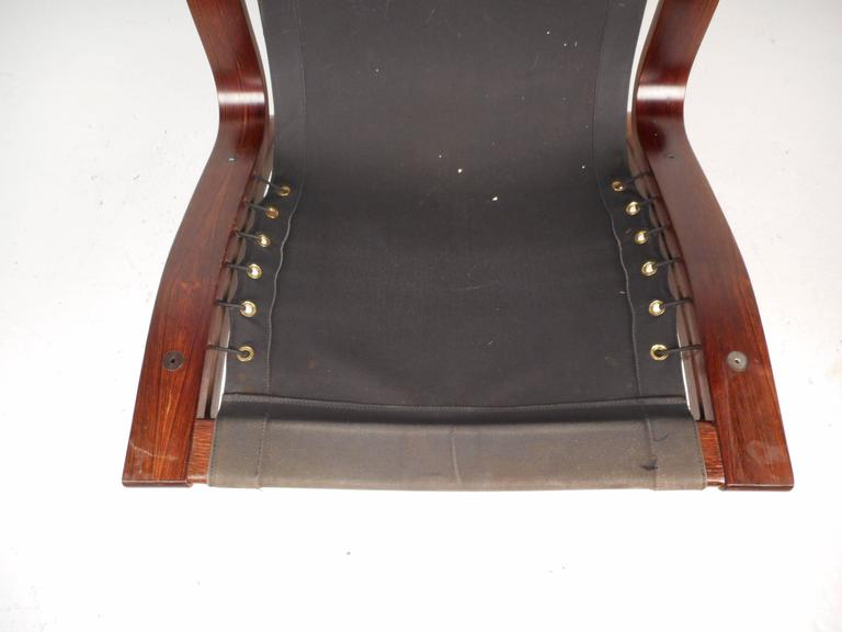 Ingmar Relling Leather Lounge Chair with Ottoman For Sale 1