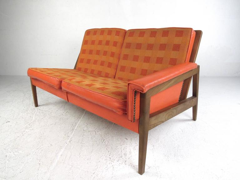 American Mid Century Modern Corner Sofa For