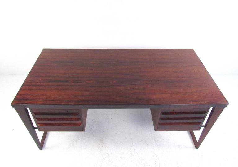 Danish Mid-Century Modern Rosewood Executive Desk by Kai Kristiansen For Sale