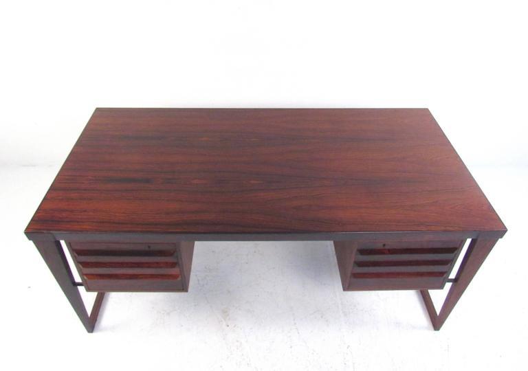 Danish Mid-Century Modern Rosewood Executive Desk by Kai Kristiansen For Sale