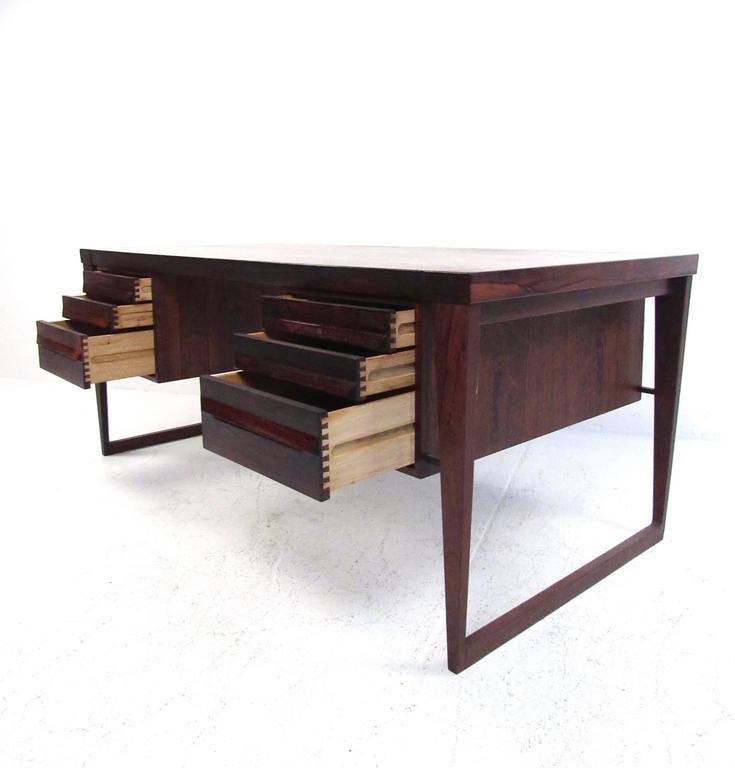 Mid-20th Century Mid-Century Modern Rosewood Executive Desk by Kai Kristiansen For Sale