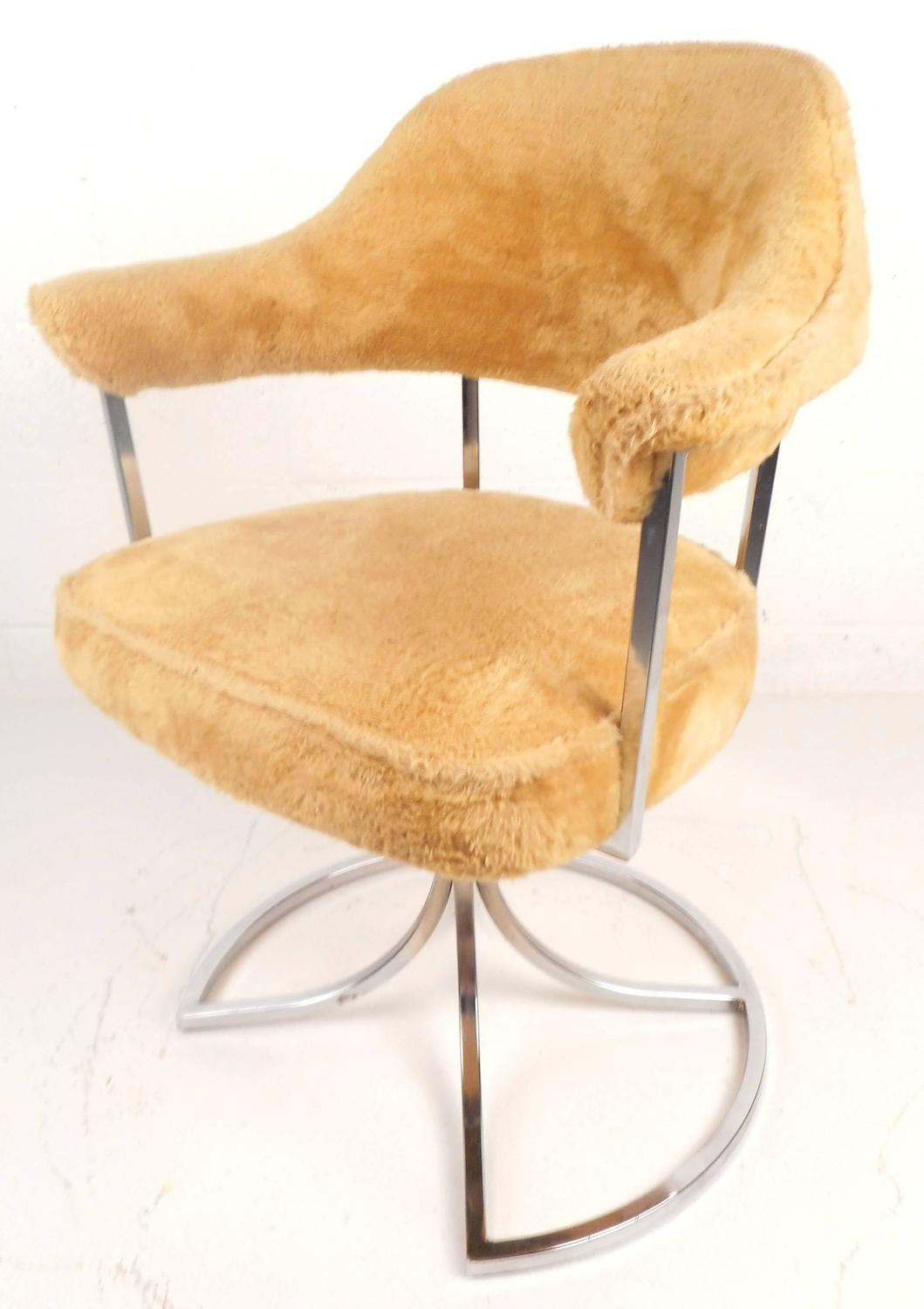 Stylish mid century modern swivel tulip chairs by cal style furniture for sale at 1stdibs - Tulip chairs for sale ...