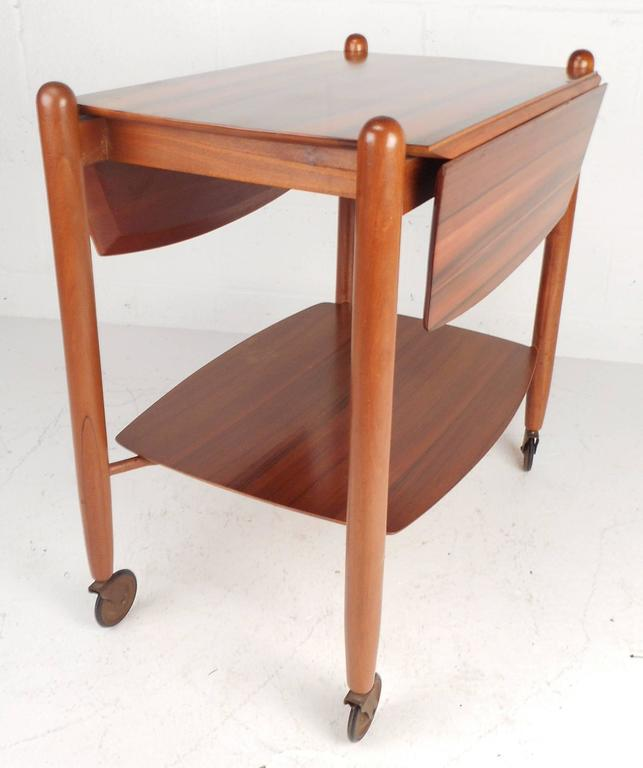 Mid-20th Century Mid-Century Modern Drop-Leaf Bar Cart by Vanson For Sale