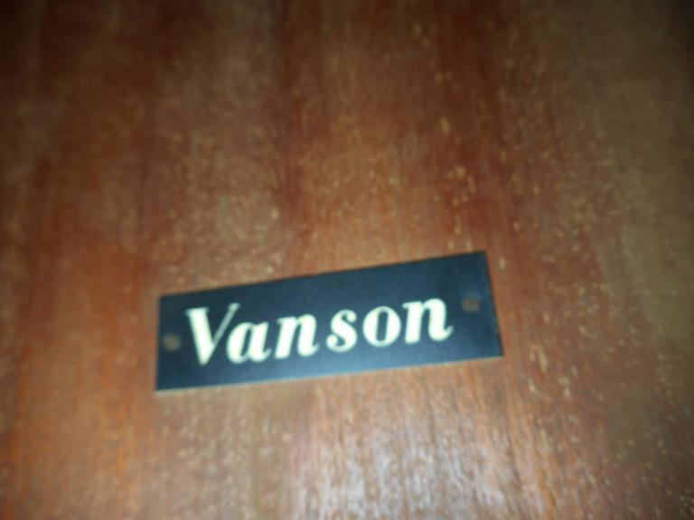 Mid-Century Modern Drop-Leaf Bar Cart by Vanson For Sale 1