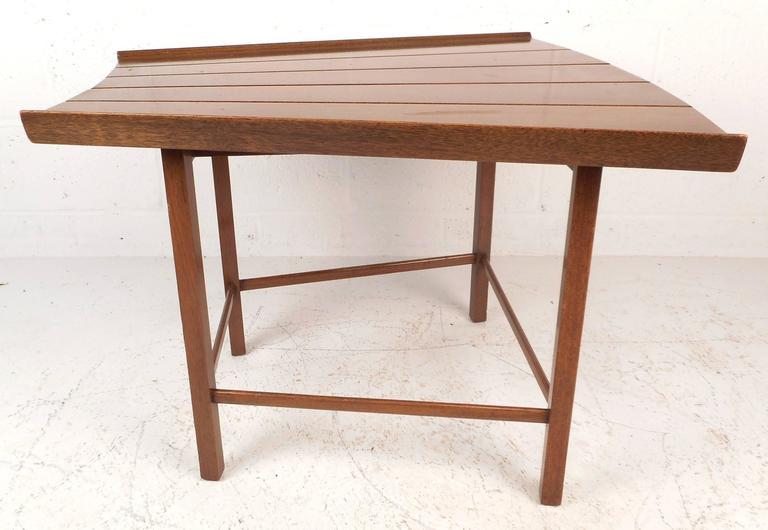 American Mid-Century Modern Dunbar Style Slat Bench For Sale