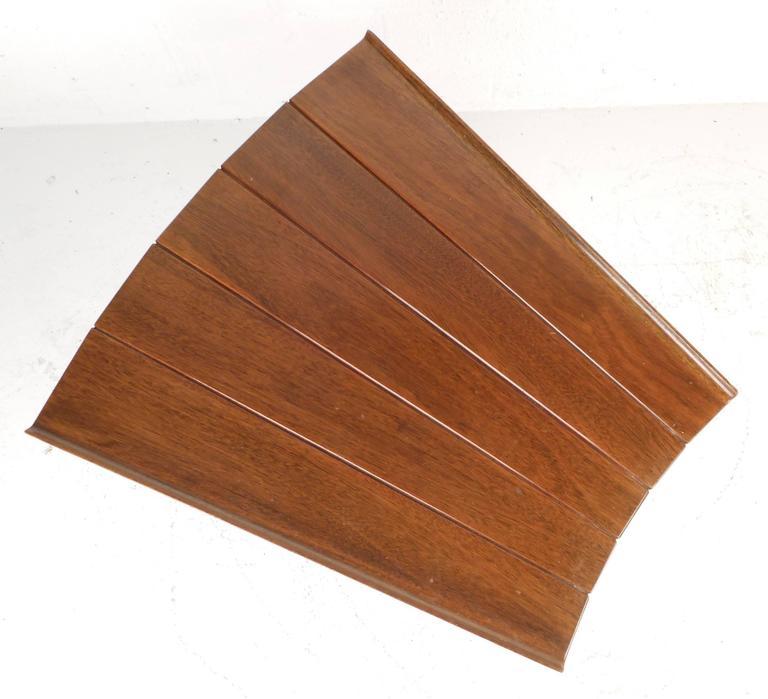 Late 20th Century Mid-Century Modern Dunbar Style Slat Bench For Sale