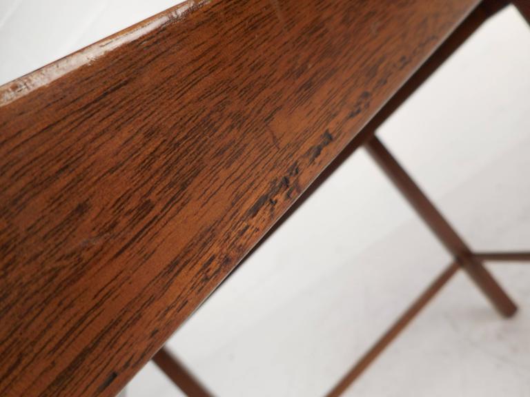 Mid-Century Modern Dunbar Style Slat Bench For Sale 1