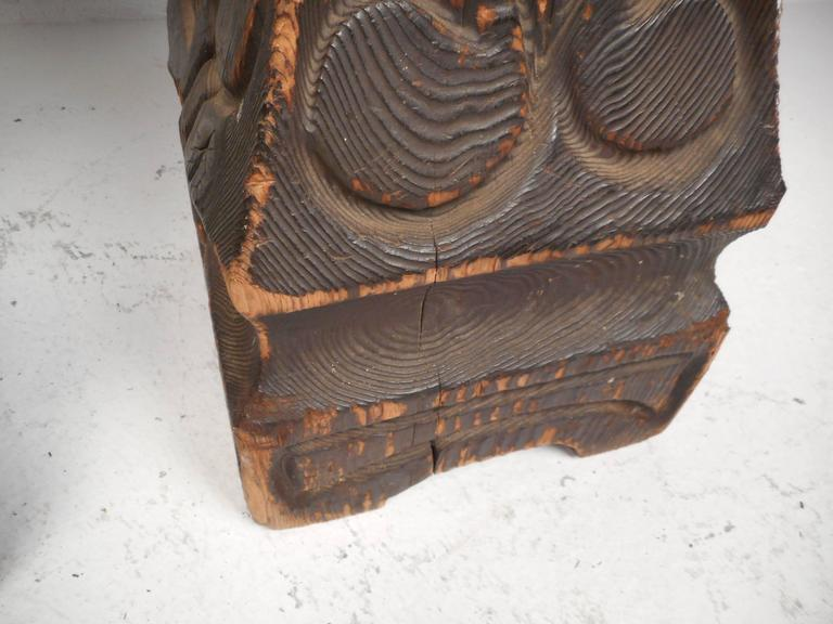 Mid Century Modern Carved Tiki Bar Stools By Witco At 1stdibs