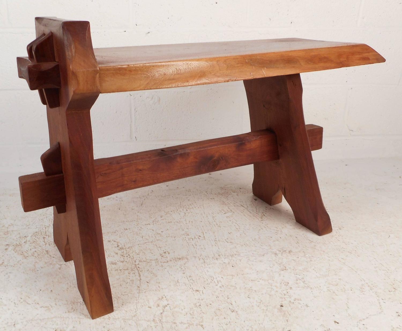 Mid Century Modern Live Edge Cobbler Bench For Sale At 1stdibs