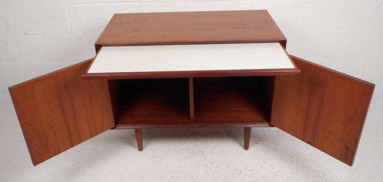 Mid-Century Modern Danish Teak Two-Door Cabinet For Sale 1
