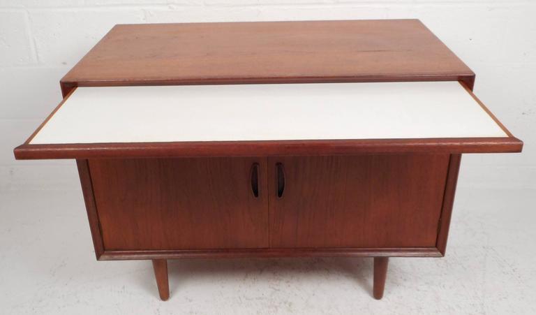 Mid-Century Modern Danish Teak Two-Door Cabinet For Sale 2