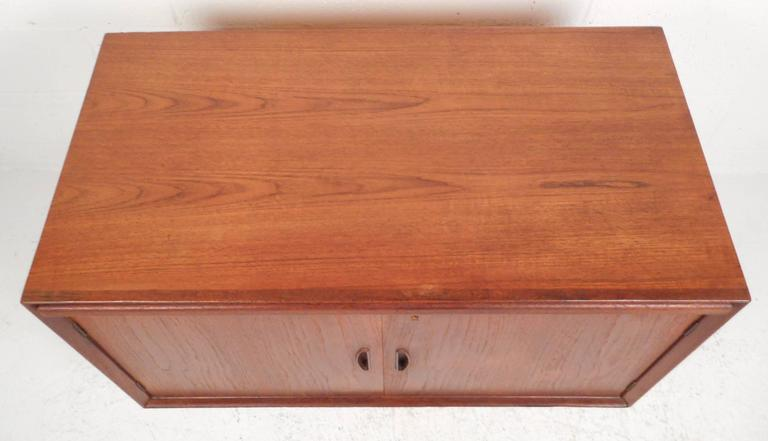 Mid-Century Modern Danish Teak Two-Door Cabinet In Good Condition For Sale In Brooklyn, NY