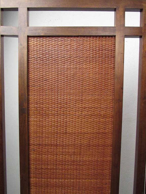 Mid-Century Modern Mid-Century Folding Screen Room Divider For Sale