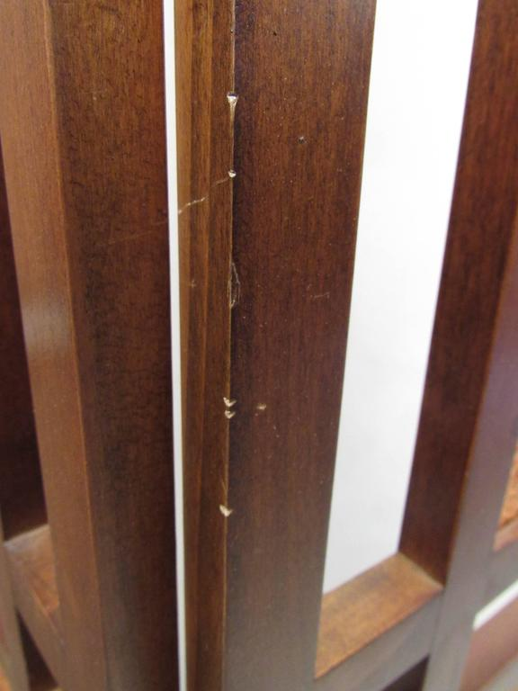 American Mid-Century Folding Screen Room Divider For Sale