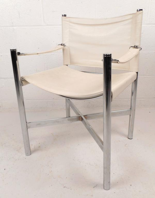 Mid-Century Modern Chrome X-Base Dining Set For Sale 1