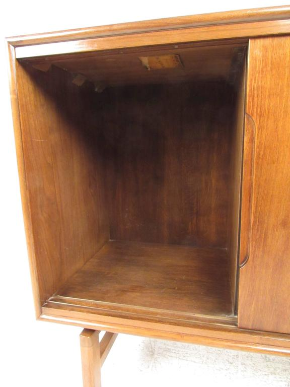 american walnut sliding door cabinet for sale at 1stdibs