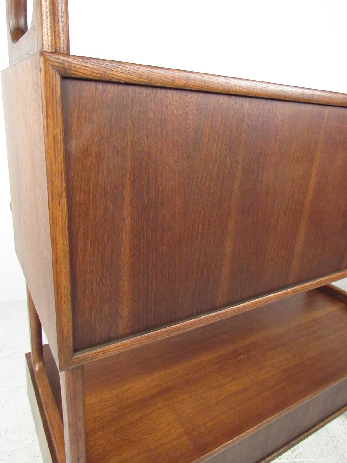 century kitchen cabinets mid century drop front desk or bookshelf cabinet for 2056