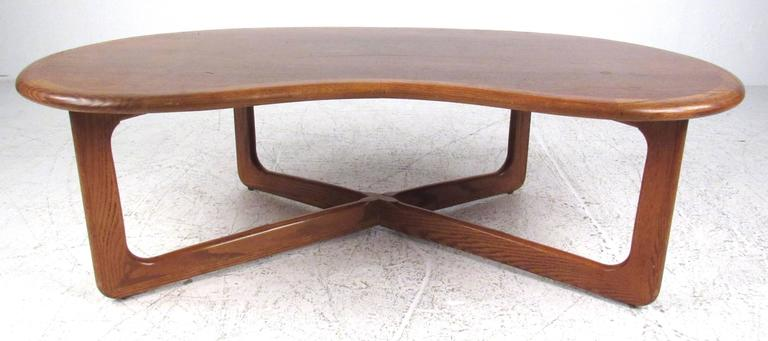 Walnut Kidney Shaped Coffee Table