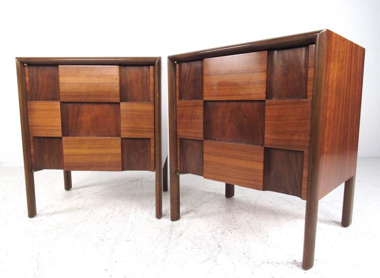 "Mid Century Modern ""Checkerboard"" Bedroom Set by Edmond"