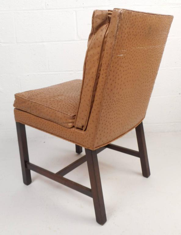 Magnificent Set Of Mid Century Modern Faux Ostrich Covered Dining Chairs Creativecarmelina Interior Chair Design Creativecarmelinacom