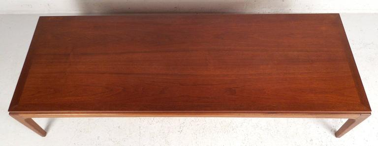 American Vintage Walnut Coffee Table by Lane For Sale