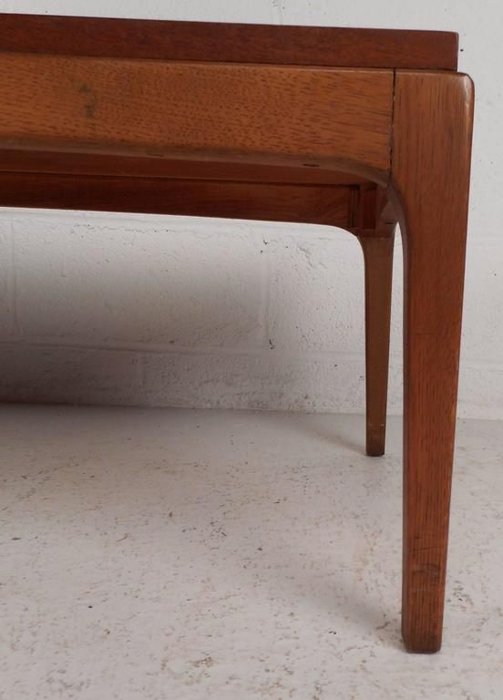 Late 20th Century Vintage Walnut Coffee Table by Lane For Sale