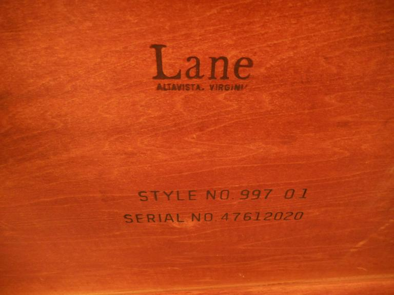 Vintage Walnut Coffee Table by Lane For Sale 1