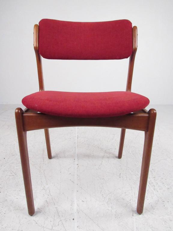 Mid-Century Modern Set of Erik Buch Teak Dining Chairs for O.D. Mobler For Sale