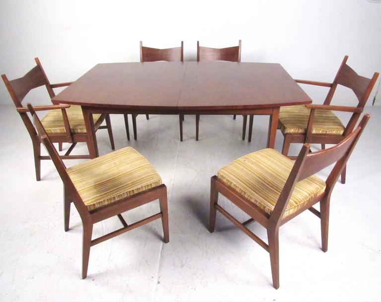 American Mid Century Modern Dining Table And Chairs By Lane For