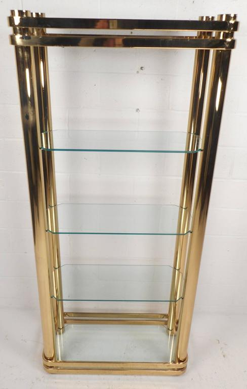 Mid-Century Modern Metal and Glass Etagere In Good Condition For Sale In Brooklyn, NY