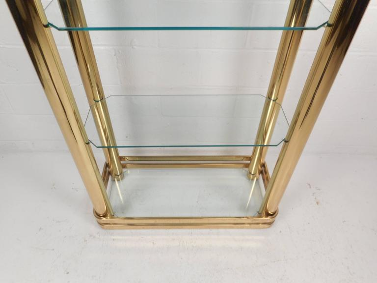 Late 20th Century Mid-Century Modern Metal and Glass Etagere For Sale