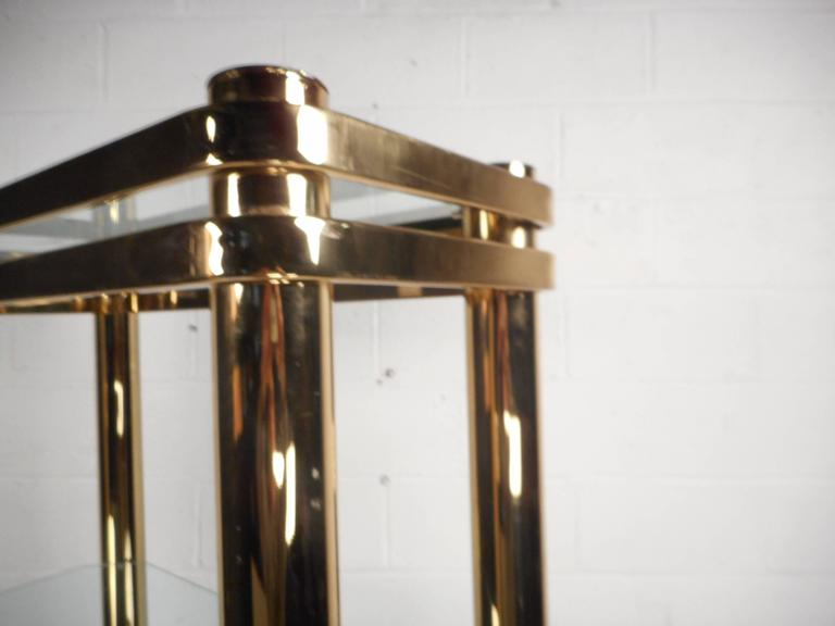 Mid-Century Modern Metal and Glass Etagere For Sale 1