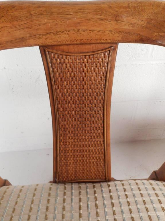 Upholstery Pair of Mid-Century Modern Side Chairs For Sale