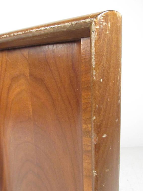 Mid-Century Modern Full Size Walnut Headboard by Edmond J. Spence For Sale