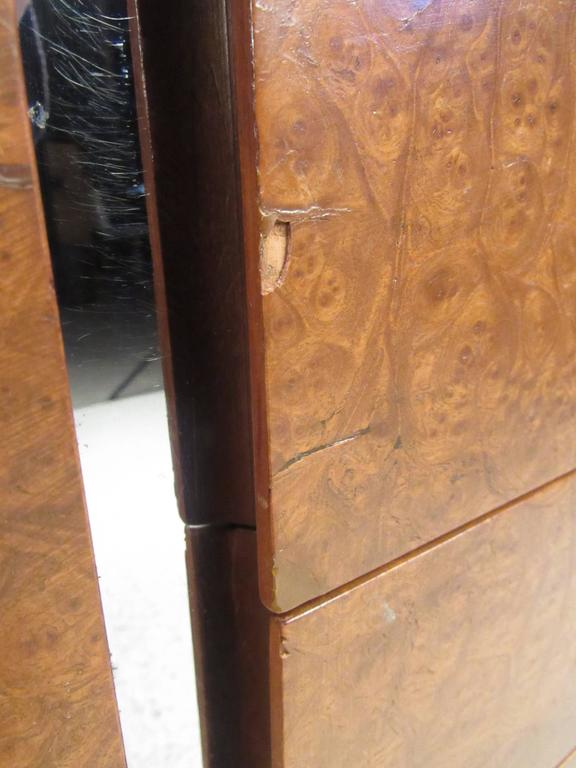 Ste. Marie & Laurent Burl Wood and Chrome Credenza For Sale 1