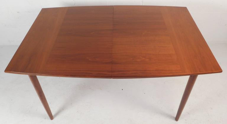 American Mid-Century Modern Walnut Dining Table by Drexel For Sale