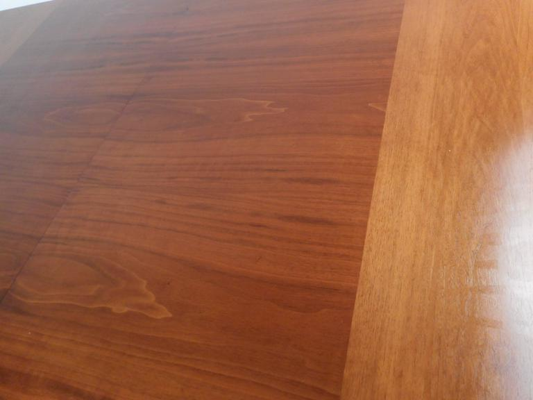 Mid-Century Modern Walnut Dining Table by Drexel For Sale 2