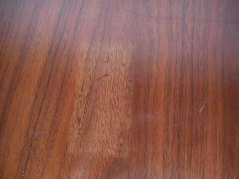 Mid-Century Modern Walnut Dining Table with Rosewood Accents For Sale 4