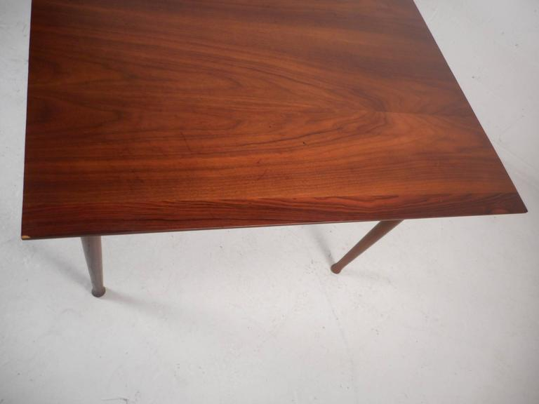 Mid-Century Modern Walnut Dining Table with Rosewood Accents For Sale 2