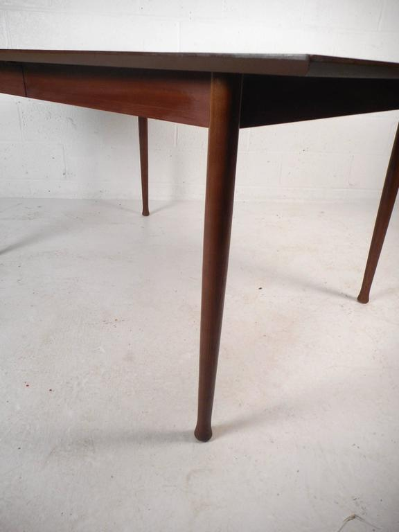 Mid-Century Modern Walnut Dining Table with Rosewood Accents For Sale 3