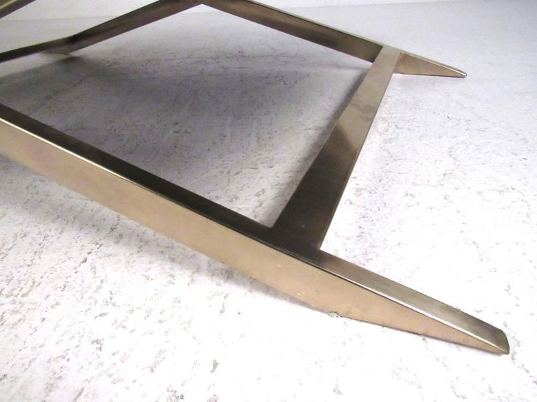 decorator brass x base coffee table for sale at 1stdibs. Black Bedroom Furniture Sets. Home Design Ideas