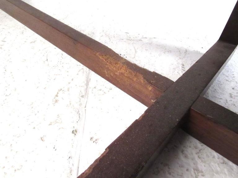 Mid-20th Century Mid-Century Walnut Two-Seat Platform Bench For Sale