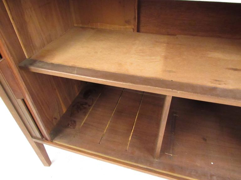 Mid-Century Modern Tambour Credenza For Sale 1