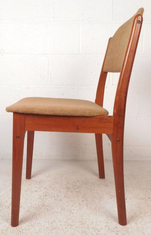 Late 20th Century Set of Six Mid-Century Modern Danish Teak Dining Chairs For Sale