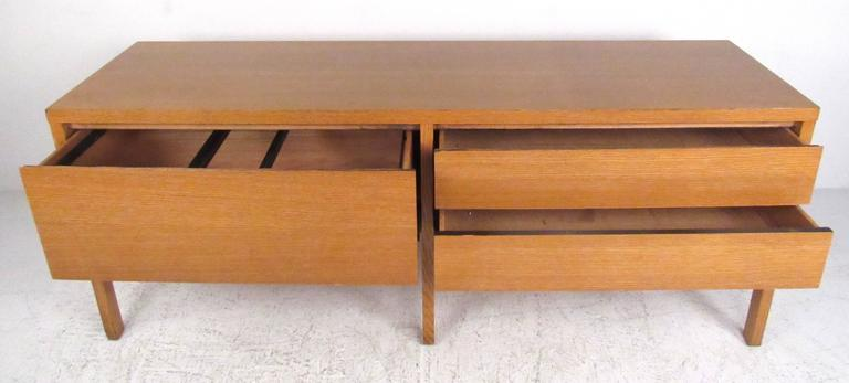 Modern Oak Office Credenza by Directional For Sale