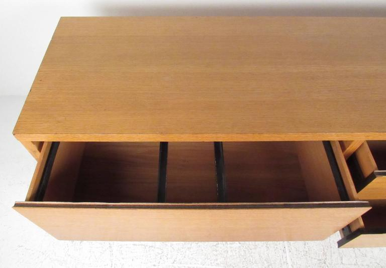 American Oak Office Credenza by Directional For Sale
