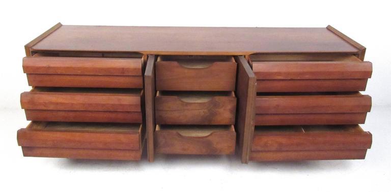 Mid-Century Modern Mid-Century Walnut Dresser by Lane For Sale