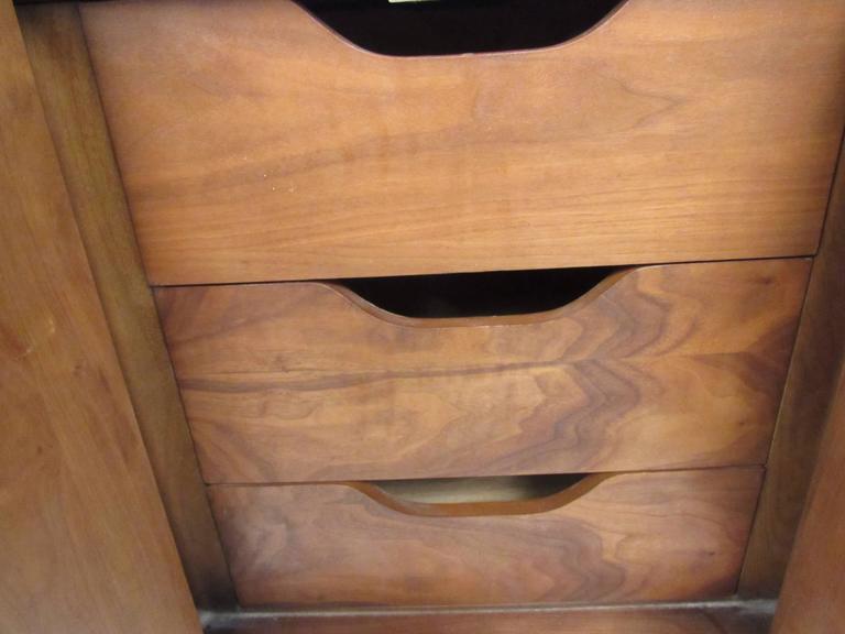 American Mid-Century Walnut Dresser by Lane For Sale
