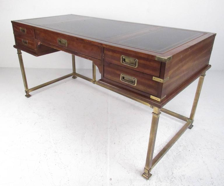 Mid Century Modern Campaign Desk By Sligh Furniture Company Of Holland,  Mich. Made